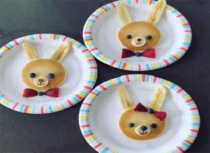 bunny pancake breakfast