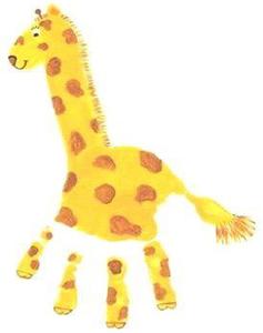 hand printed giraffe