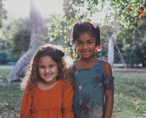two young friends portrait