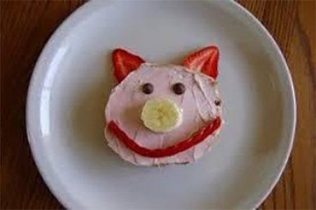 little poems for tiny ears snack pancake pig face