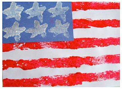 blue sky white stars flag craft